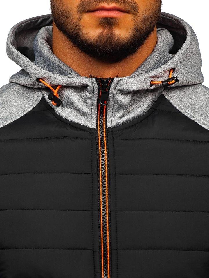 Чоловіча демісезонна спортивна куртка сіра Bolf KS1889