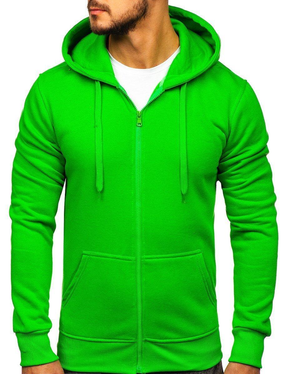 Чоловіча толстовка з капюшоном світло-зелена Bolf 2008-A