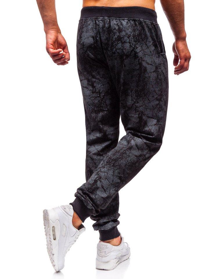 Чоловічі спортивні штани чорні Bolf MK18