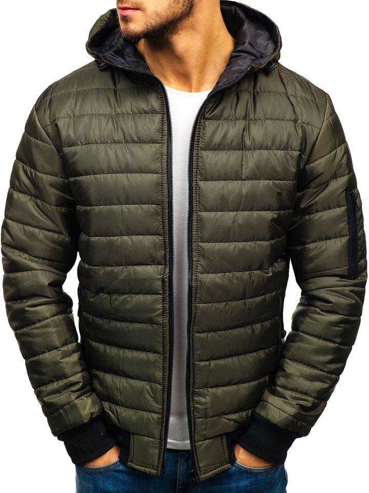 Мужская демисезонная спортивная куртка зеленая Bolf MY13 de161735cd9a0