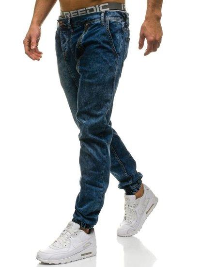 Темно-сині чоловічі джинсові штани джоггери Bolf 408-1 ТЕМНО-СИНІЙ 51bee25e96f59