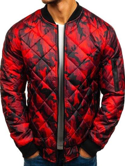 Чоловіча демісезонна куртка-бомбер червона Bolf RZ09 c7ce88696c2dd