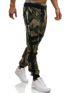 b01de9b0 Мужские трикотажные брюки джоггеры камуфляж-зеленые Bolf 0877 ЗЕЛЕНЫЙ