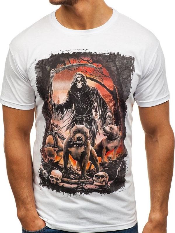 ТЕМНО-СИНІЙ  БІЛИЙ  ЧОРНИЙ · Чоловіча футболка з принтом чорна Bolf 005 145dfdf831435