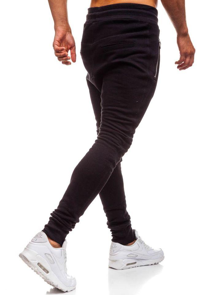 Чоловічі трикотажні штани багі чорні Bolf 43s-s ЧОРНИЙ 48273501e2228