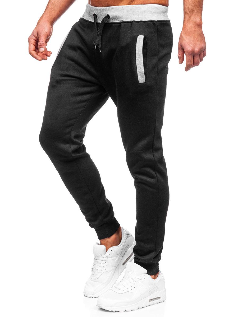 Чоловічі трикотажні штани джогери чорні Bolf AK13 ЧОРНИЙ fa5645bf41240
